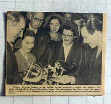 1949 Princess Margaret At Earls Court Congratulating Reg Harris On His 1 Km