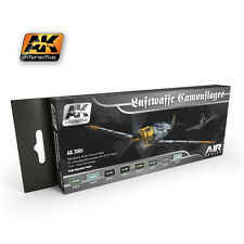 AK Interactive AK 2001 Luftwaffe Camoulfages set - Acrylic Paint Set