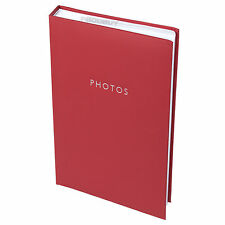 "Classic Faux Leather Red Photo Album 300 Photographs 6"" x 4"" Picture Book Family"