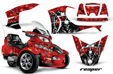 AMR Racing Can Am BRP RTS Spyder Graphic Kit Wrap Street Bike Decal REAPER RED