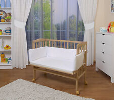 WALDIN Baby Co-sleeper bed,Cradle,Baby bed, with Bumper and Mattress
