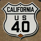 California CSAA US route 40 highway road sign auto club Lincoln San Francisco