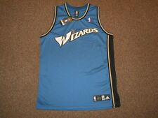Washington Wizards Blue Blank Adidas Authentic Jersey sz 44 New Mens DC Bullets