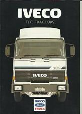 IVECO FORD TEC TRACTORS LORRY TRUCK SALES BROCHURE 1986