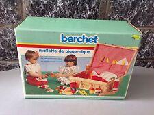 Vintage BERCHET TOY MALETTE PIQUE NIQUE#PIC NIC BOX NIB