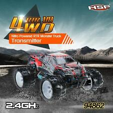 HSP 94862 SAVAGERY 1/8 4WD Nitro Powered Monster Truck w/2.4Ghz Transmitter Y0O3