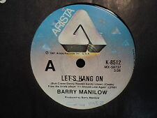 "Barry Manilow ""Let's Hang On"" Rare Oz 7"""