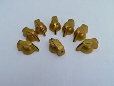 Gold Chicken Head Knob w black stripe for Vox & other Guitar Amplifiers set of 8
