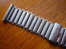 RARE WIDE 18mm BONKLIP stainless steel MILITARY watch band for WWW dirty dozen