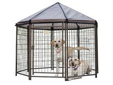 Dog Kennels Outdoor Gazebo House Cage Shelter Portable Camping Hunting Kennel