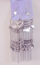 LADIES SILVER COLOUR DANGLY EARRINGS FROM CLAIRES ASSESSORIES BNWT