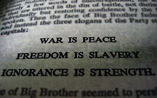 Framed Print - War is Peace Freedom is Slavery Ignorance is Strength (Picture)