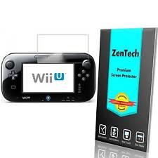 2X ZenTech® Ultra Clear Screen Protector Guard Shield Saver For Nintendo Wii U