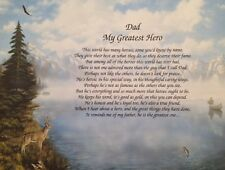 Christmas Gift for Dad My Greatest Hero Poem Birthday Present for Father