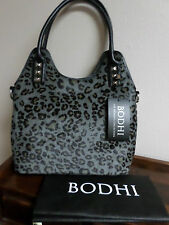 BODHI Leather Calf Hair Satchel Handbag--Shoulder Strap--Silver Studs--New--$598