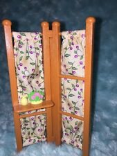 Brown Office Living Room Screen Divider Fisher Price Loving Family Dollhouse