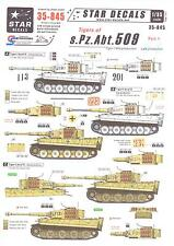 Star Decals 1/35 TIGER TANKS OF s.Pz.Abt. 509 German Tiger I Tank Part 1