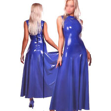 Sexy Latex Women Dress Handmade Rubber costumes Slim Evening Dresses Party Wear