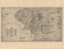 Lord Of The Rings - Hobbit Map Of Middle Earth   Mordor   Flyer Prop/Replica