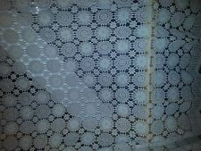 Handmade Crochet Tablecloth 72 x 108 - Circles
