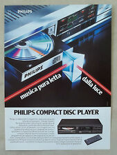 E880-Advertising Pubblicità-1986- PHILIPS COMPACT DISC PLAYER
