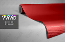 VVIVID8 blood red carbon fiber film 6ft x 5ft 3d stretch vehicle car wrap vinyl
