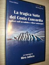 DVD LA TRAGICA NOTTE DEL COSTA CONCORDIA DI MIRO JAFISCO  FRANCESCO SCHETTINO