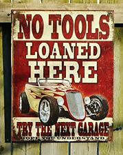 Garage Tools Cars Metal Tin Sign Vintage Retro Wall Art Man Cave Den Home Decor