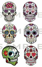 Sugar Skull Vinyl Stickers, Laptop, Car ,Truk ,JDM Drift Van, Bike, Skate board