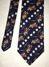 GOLF CART AND GOLF BALLS NECKTIE by SKY BEND COUNTRY CLUB  #19468