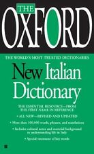 The Oxford New Italian Dictionary by Oxford University Press (2007, Paperback)