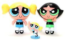 THREE 2000 CARTOON NETWORK POWERPUFF GIRLS FIGURES BUBBLES & BUTTERCUP