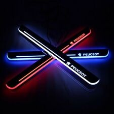 2pcs LED Door sill Scuff Plate threthold Trim Panel for For Peugeot 508 2011-14