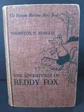 1941 The Adventures of Reddy Fox Thornton W Burgess Famous Bedtime Stories