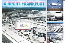 FRANKFURT MAIN INTERNATIONAL AIRPORT JUMBO POSTCARD 5 VIEWS LUFTHANSA TERMINAL