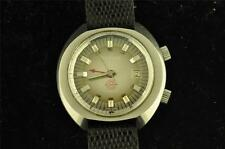 NICE CLEAN VINTAGE MENS STAINLESS STEEL WAKMANN ALARM WRISTWATCH KEEPING TIME