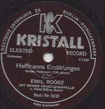Emil Roosz und sein Orchester vom Hotel Adlon Berlin 1931 : Hoffmanns Erzählunge