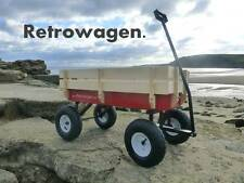 Original Pull along Retro wagon Retrowagen flyer cart radio Improved front axle