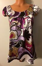 •• Women's Size Small Speechless Blouse SS Shirt Polyester Tunic Top Nice!
