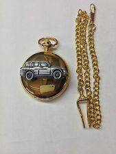 Suzuki Grand Vitara ref245 pewter effect emblem gold quartz pocket watch