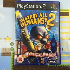 DESTROY ALL HUMANS 2 - SONY PLAYSTATION 2 PSTWO PS2 GAME - MINT