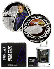 2015-P 1oz PF Silver Star Trek Capt Archer & Enterprise 2-Coin Set OGP SKU43799