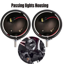 "Pair 4.5"" LED Fog Light Passing Lights Housing For Harley Davidson Motorcycle"