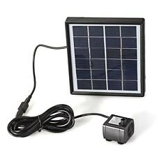 Solar Panel Power Brushless Water Pumps Fountain Pool Pond Garden Watering Kit