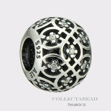 Authentic Pandora Sterling Silver Intricate Lace With Clear CZ Bead 791295CZ