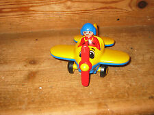 PLAYMOBIL 123 RARE COMPLETE SET PLANE PILOT PLAY FIGURE SIT STANDS MOVING BLADES