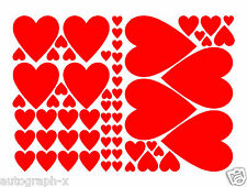 VALENTINES DAY HEARTS (61) Decorative Shop Window Stickers Graphics