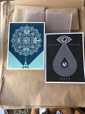Shepard Fairey Obey Eath Crisis 2 Book Art Print Set Signed 2016 RARE