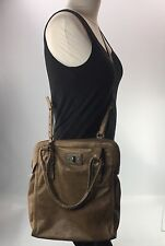 Allsaints Spitafields Top Handle Crossbody Tote Distressed Brown Tan Leather