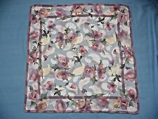 Lancetti Italy Scarf 100% Silk Muted Roses Textured Paisleys Pattern w/ Gold WOW